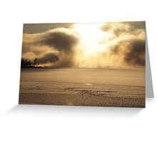 Vapors rising from a freezing river, Höga Kusten / High Coast, Sweden 3 Greeting Card
