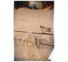 Sunset Butterflies Poster
