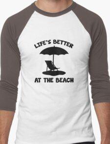 Life's Better At The Beach Men's Baseball ¾ T-Shirt