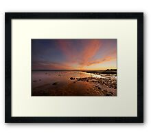 River Esk Sunset Framed Print