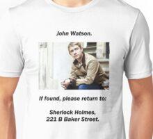 John Watson, lost Unisex T-Shirt