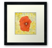 Watercolour Flower Painting Framed Print