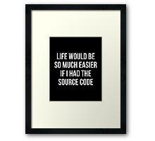 Life Source Code Framed Print