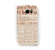 United States Department of Agriculture Poster 0285 An Army of Poutry Will Help Win The War More Food This Year Is Patriotism Samsung Galaxy Case/Skin