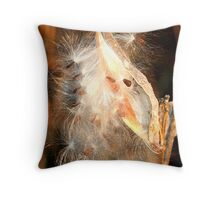 REDREAMING MILKWEED IN GOLD Throw Pillow