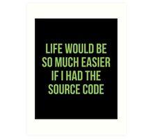 Life Source Code Art Print
