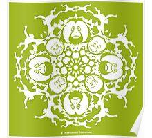 ORANGUTAN SNOWFLAKE GREEN Poster