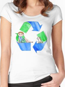 Boys Love the Planet, Too Women's Fitted Scoop T-Shirt