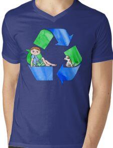 Boys Love the Planet, Too Mens V-Neck T-Shirt