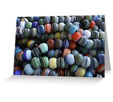 Hand made glass beads-TURKEY Greeting Card