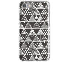 Geometric Triangles in Black White iPhone Case/Skin