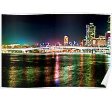 Brisbane River Lights Poster