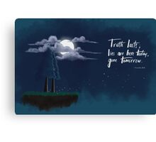 Truth Prevails. Canvas Print