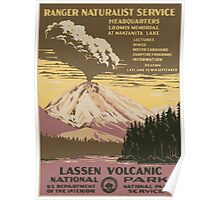 WPA United States Government Work Project Administration Poster 0016 Ranger Naturalist Service Lassen Volanic National Park Poster