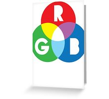 RGB Red Green Blue Colour Color Spectrum Greeting Card
