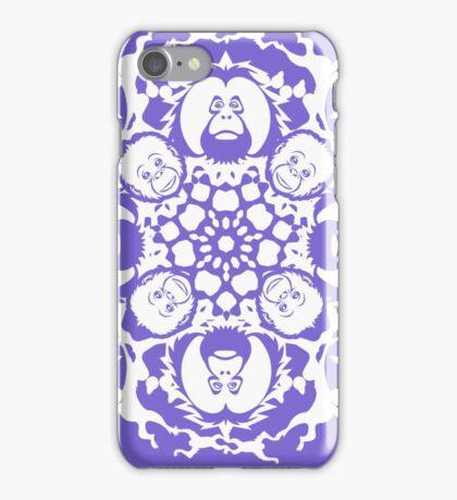 ORANGUTAN SNOWFLAKE LILAC iPhone Case/Skin