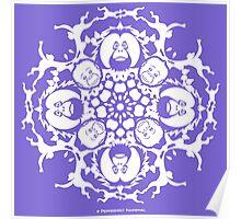 ORANGUTAN SNOWFLAKE LILAC Poster