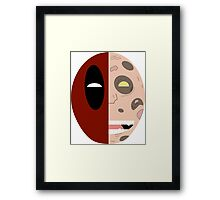 deadpool wade wilson face Framed Print