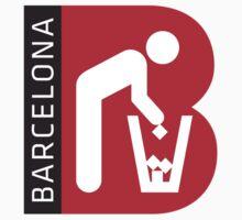 Barcelona Honest Logo Poverty Kids Tee