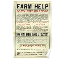 United States Department of Agriculture Poster 0096 Farm Help Poster