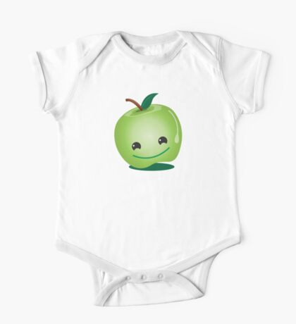 Apple green cutie funny face One Piece - Short Sleeve