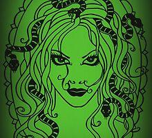 Medusa Green by MrsTreefrog