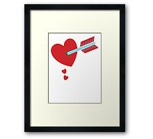 ARROW through the HEART Framed Print