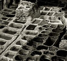 Fez' Tannery B&W by patricia16