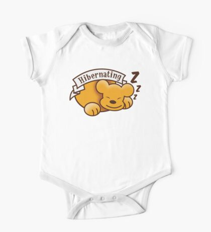 Hibernating cute sleeping bear ZZZ One Piece - Short Sleeve