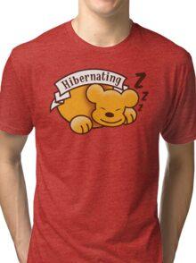 Hibernating cute sleeping bear ZZZ Tri-blend T-Shirt