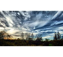 November Skyscape - Buckinghamshire, England Photographic Print