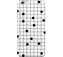 Dot Grid map art print black and white minimal modern pop trendy urban brooklyn design streets new york city subway iPhone Case/Skin