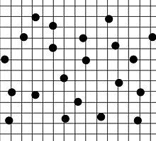 Dot Grid map art print black and white minimal modern pop trendy urban brooklyn design streets new york city subway by charlottewinter
