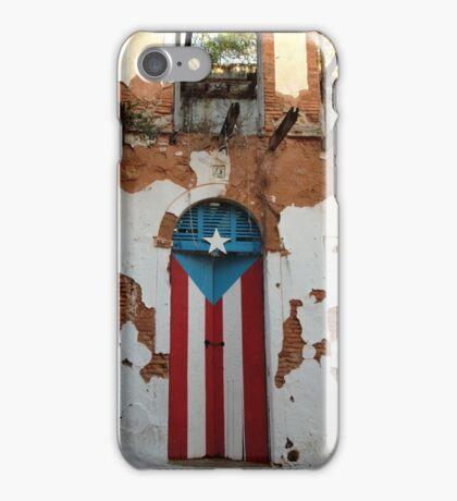 Old San Juan door iPhone Case/Skin