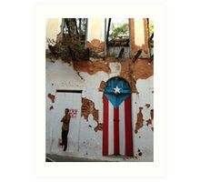 Old San Juan door Art Print