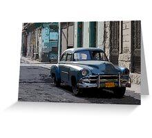 Yank Tank, Havana, Cuba Greeting Card