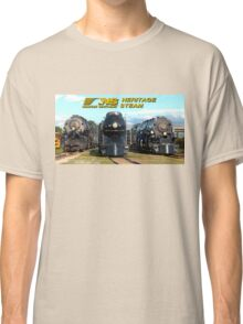 """""""The Big Three"""" - Norfolk Southern Heritage Steam Classic T-Shirt"""