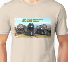 """The Big Three"" - Norfolk Southern Heritage Steam Unisex T-Shirt"