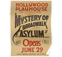 WPA United States Government Work Project Administration Poster 0798 Hollywood PLayhourse Mystery of the Boardwalk Asylum Poster
