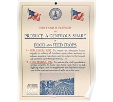 United States Department of Agriculture Poster 0273 Produce a Generous Share of Food and Feed Crops Poster