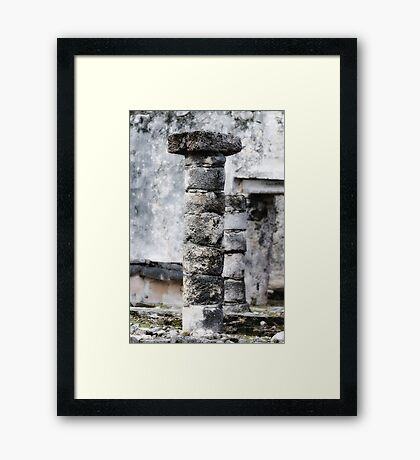Ancient Piller Framed Print