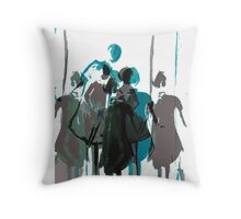 Crowd Scene Throw Pillow