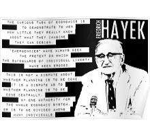 Friedrich Hayek Austrian School Poster