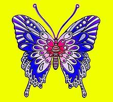 Original Butterfly Design Blue by Sookiesooker
