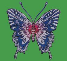 Original Butterfly Design Blue Kids Clothes