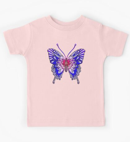 Original Butterfly Design Blue Kids Tee