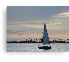 Sailing at dusk Canvas Print