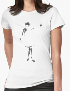 Girl waving Womens Fitted T-Shirt