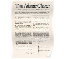 United States Department of Agriculture Poster 0166 The Atlantic Charter Franklin Delano Roosevelt Winston Churchill August 14 1941 Poster