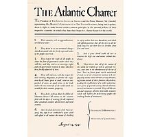 United States Department of Agriculture Poster 0166 The Atlantic Charter Franklin Delano Roosevelt Winston Churchill August 14 1941 Photographic Print